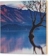 Sunrise In Slovenia Wood Print
