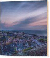 Sunrise In St Ives In Cornwall Wood Print