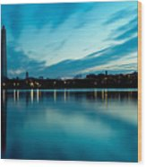 Sunrise In The Capital Wood Print