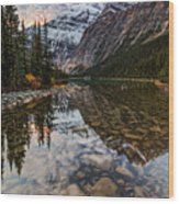 Sunrise In The Rocky Mountains Wood Print