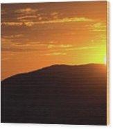 Sunrise In The Whites Wood Print