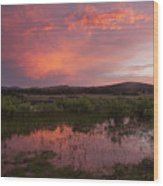 Sunrise In The Wichita Mountains Wood Print