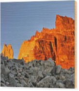 Sunrise In Torres Del Paine Wood Print
