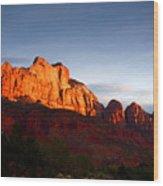 Sunrise In Utah Wood Print