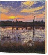 Sunrise In Viera Wood Print