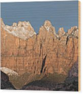 Sunrise In Zion National Park  Wood Print