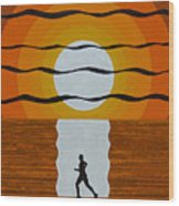 Sunrise Jogger Wood Print