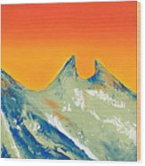 Sunrise La Silla Wood Print