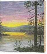 Sunrise Lake Wood Print