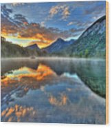Sunrise Lake Wood Print