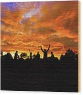 Sunrise Landscape In Tanzania Wood Print