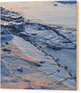 Sunrise Light On The Ice  Wood Print