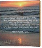 Sunrise Love Scripture Wood Print