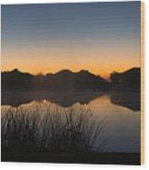 Sunrise Wood Print by Michael Tesar