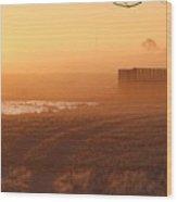 Sunrise Mist Wood Print