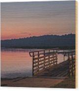 Sunrise Morning Wood Print
