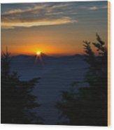 Sunrise Myrtle Point Wood Print