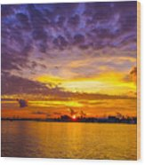 Sunrise, New Orleans Wood Print