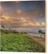 Sunrise Nukolii Beach Kauai Hawaii 7r2_dsc4068_01082018 Wood Print