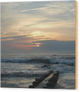 Sunrise Ocean 50 Wood Print