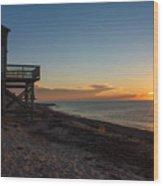 Sunrise On Beach Road, Falmouth Wood Print