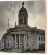 Sunrise On Cherokee County Courthouse Wood Print