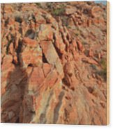 Sunrise On Colorful Sandstone In Valley Of Fire Wood Print