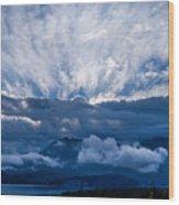 Sunrise On Lake Annecy Wood Print
