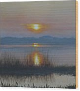 Sunrise On Lake Hollingsworth Wood Print