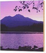 Sunrise On Lake Shasta Wood Print