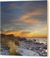 Sunrise On Mackinac Island Wood Print