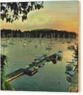 Sunrise On Mallet's Bay Wood Print