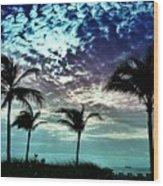 Sunrise On Miami Beach Wood Print