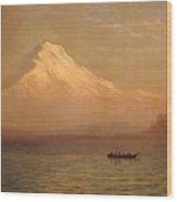 Sunrise On Mount Tacoma  Wood Print by Albert Bierstadt
