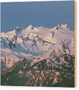 1m4120-sunrise On Mt. Olympus  Wood Print