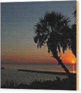 Sunrise On Pleasure Island Wood Print