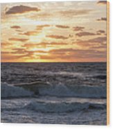 Sunrise On Pompano Beach Pompano Florida Wood Print