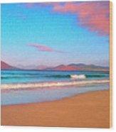 Sunrise On Sea Of Cortez Wood Print