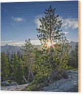 Sunrise On Sentinel Dome Wood Print