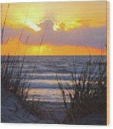 Sunrise On The Atlantic Wood Print