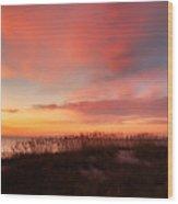 Sunrise On The Atlantic Ocean Wood Print