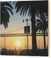 Sunrise On The Bay Wood Print