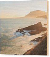 Sunrise On The Cantabrian Coast In Muskiz Wood Print