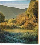 Sunrise On The Duck Marsh Wood Print