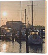 Sunrise On The Eastern Shore Of Maryland Wood Print
