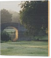 Sunrise On The Golf Course Wood Print