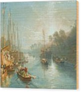Sunrise On The Grand Canal Wood Print