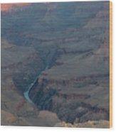 Sunrise On The Grand Canyon Wood Print