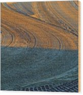 Sunrise On The Groomed Beach  Wood Print