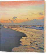 Sunrise On The Gulf Wood Print